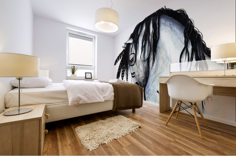 Grey Horse Mural print