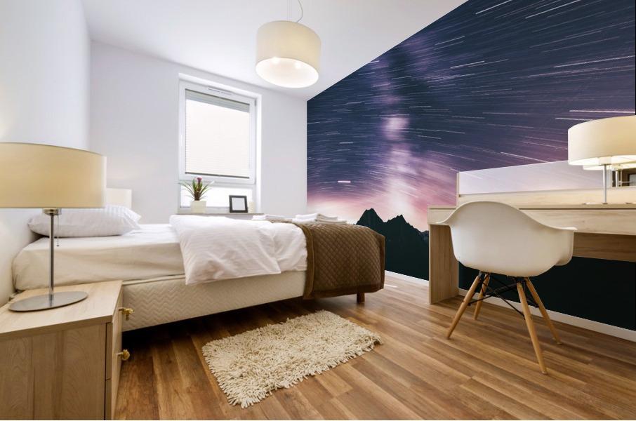 Moving stars Mural print