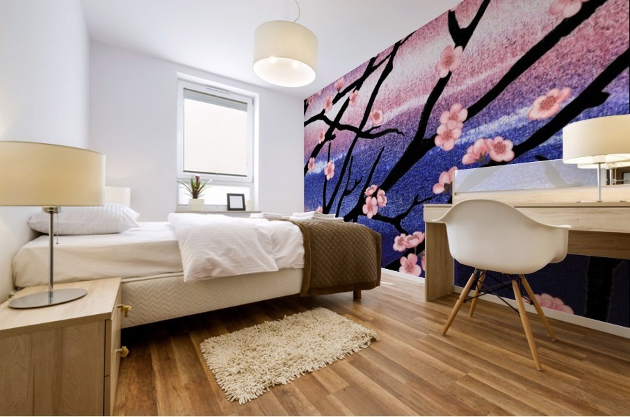 Cherry Blossoms Mural print