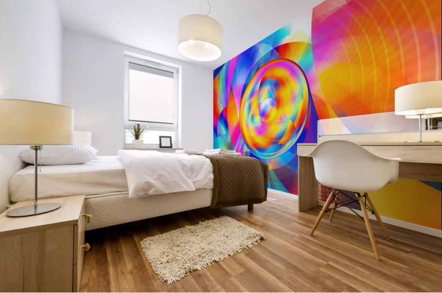 4th Dimension - Abstract Art XVI Mural print