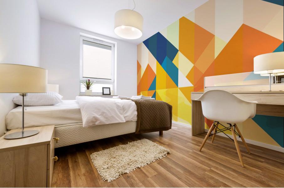 Geometric LI Mural print