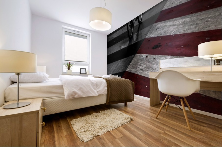 DirtY ReD by Gilbert Claes  Mural print
