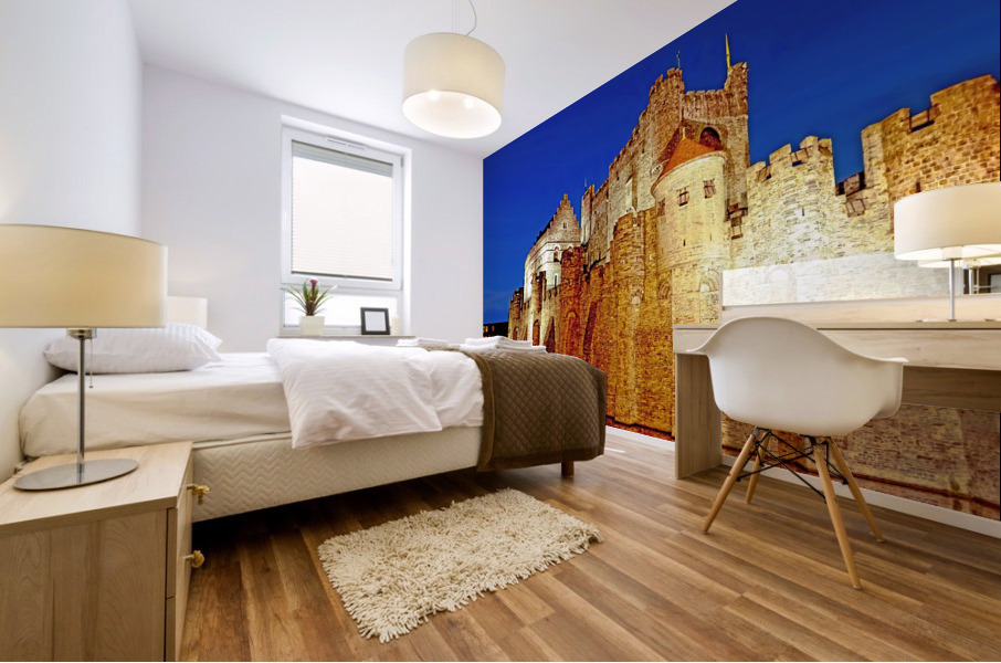 Castle of the Counts Belgium Mural print