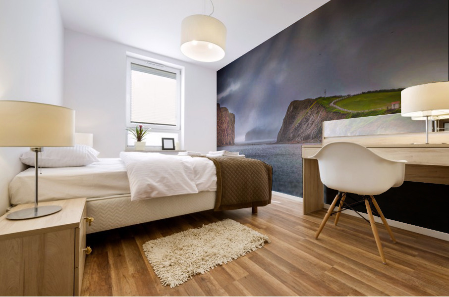 Cap Mont-Joli et son Rocher Perce Mural print