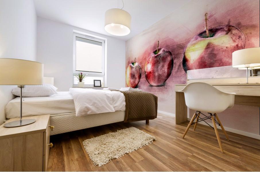 Three Apples Mural print
