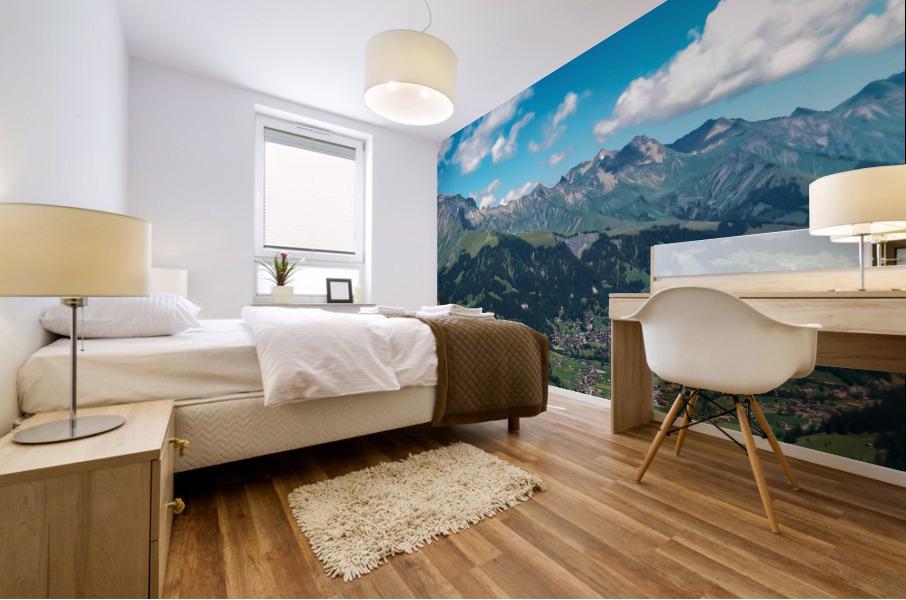 The Bernese Alps Switzerland Mural print