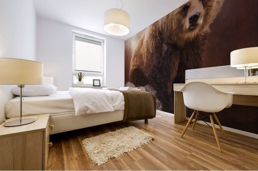 Great Strength - Grizzly Bear Art by Jordan Blackstone Mural print