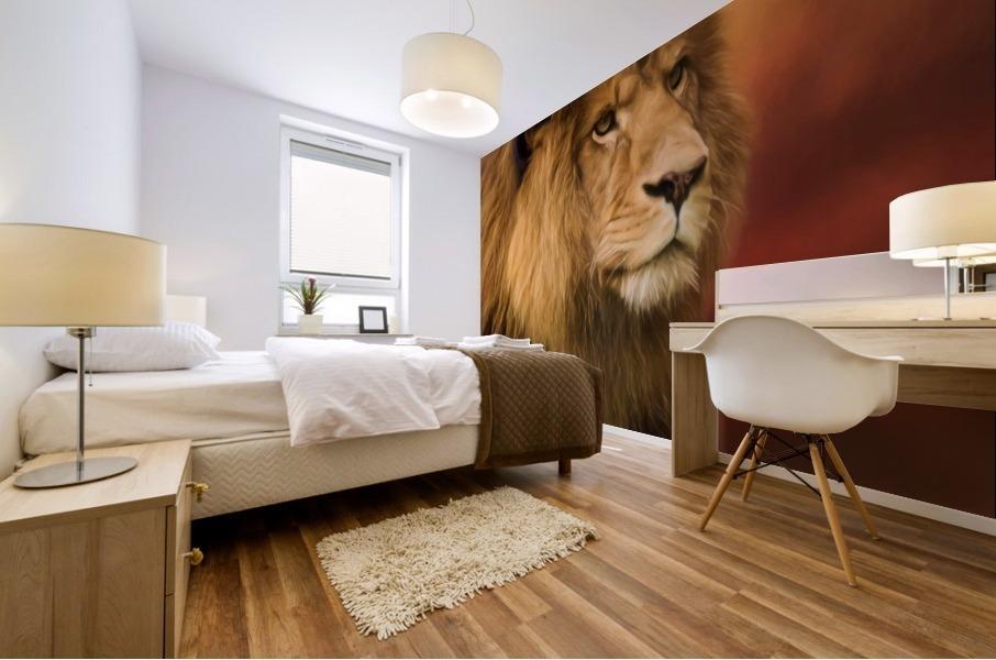 Lion Legacy - Lion Art by Jordan Blackstone Mural print