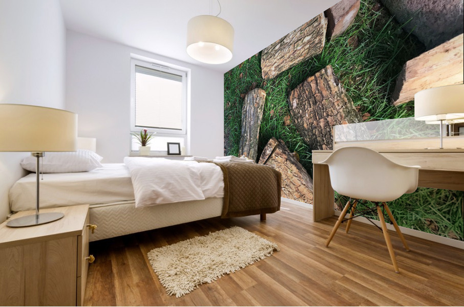 wood for fire Mural print