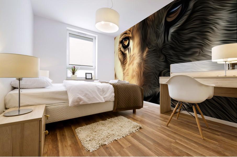 Lions Head Mural print