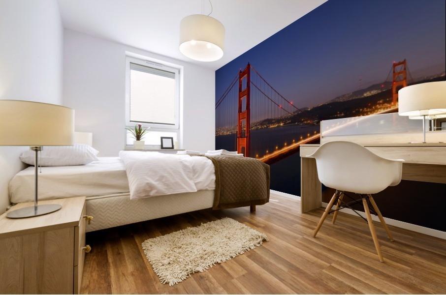 Golden Gate Bridge at Night Mural print