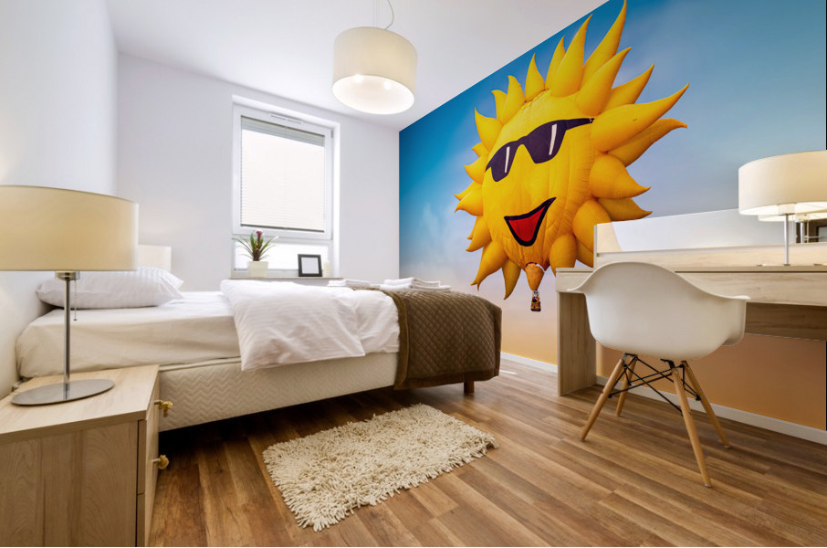 Forecast Clear and Sunny Mural print