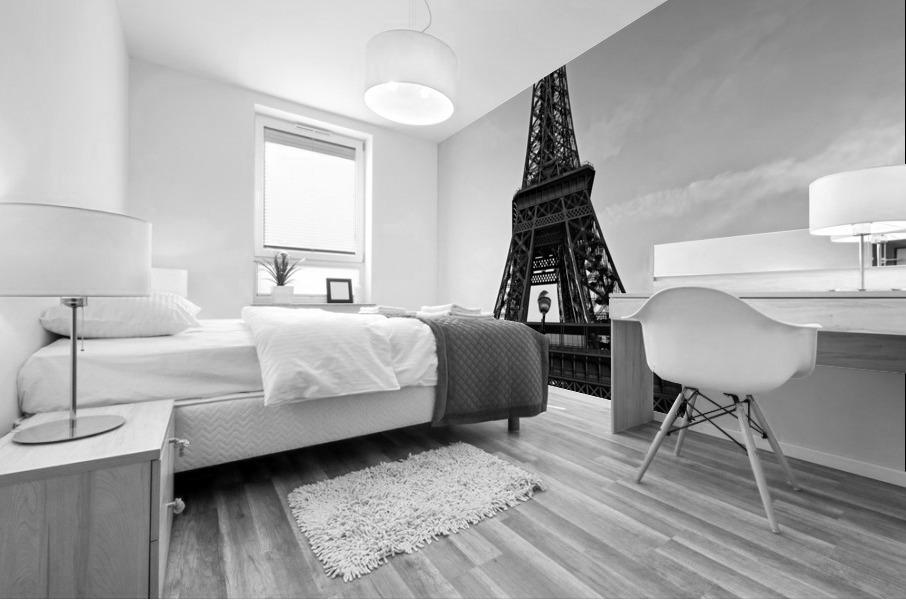 Eiffel tower in black  Impression murale