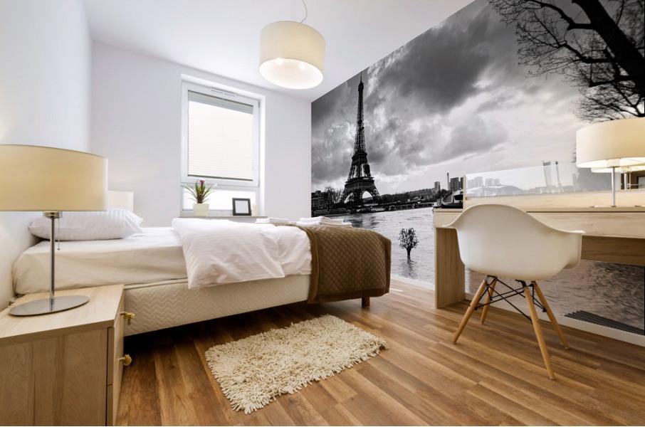 Eiffel tower flood Impression murale