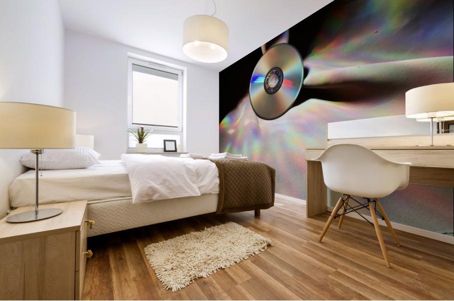 CD Rainbows Mural print