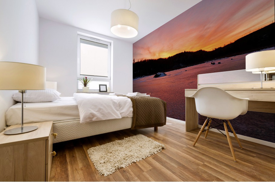 Scenic Fiery North Shore Sunset Mural print