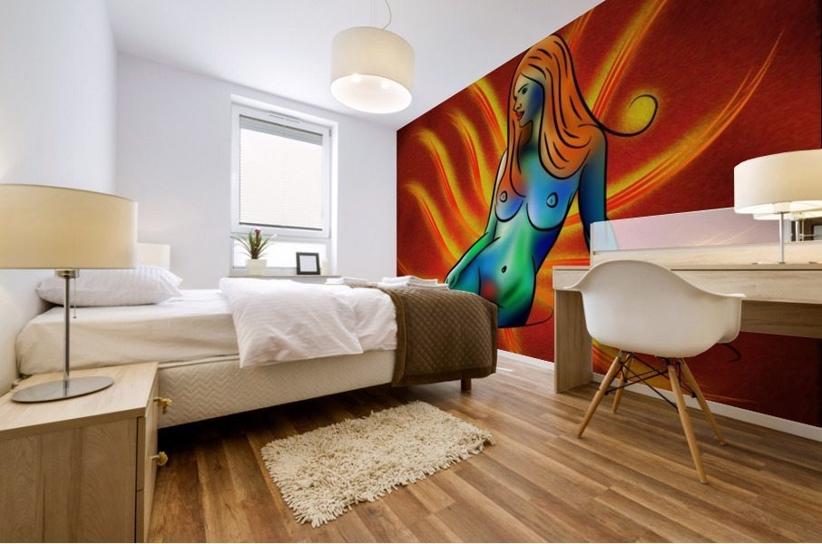 Beligametto V1 - digital abstract Mural print