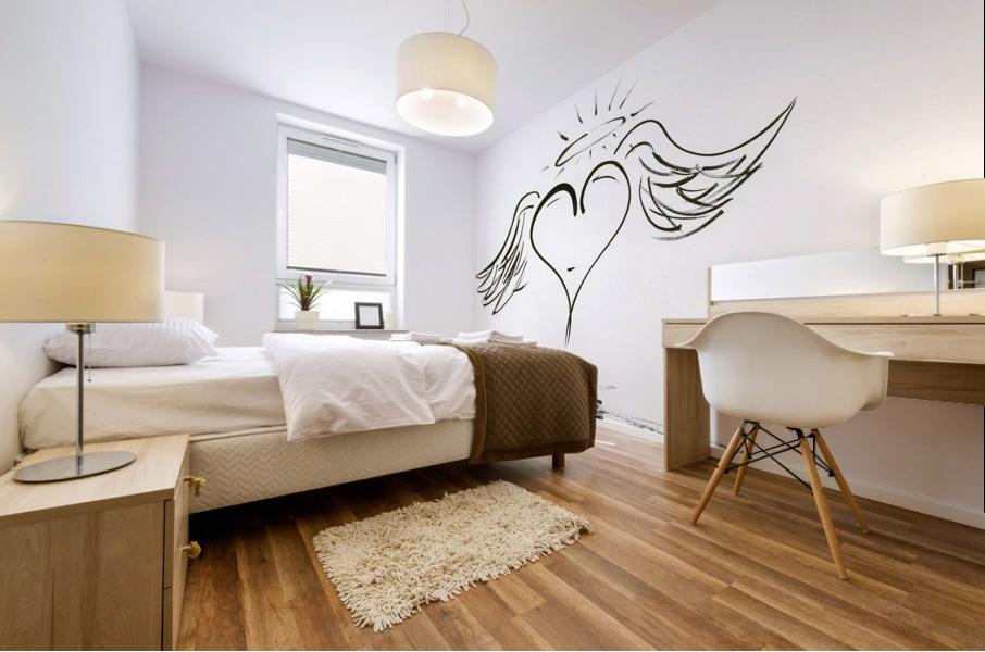 2020 heart angel Mural print