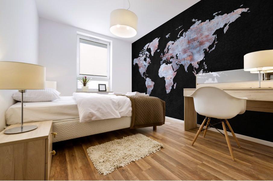 Artistic World Map XII Mural print