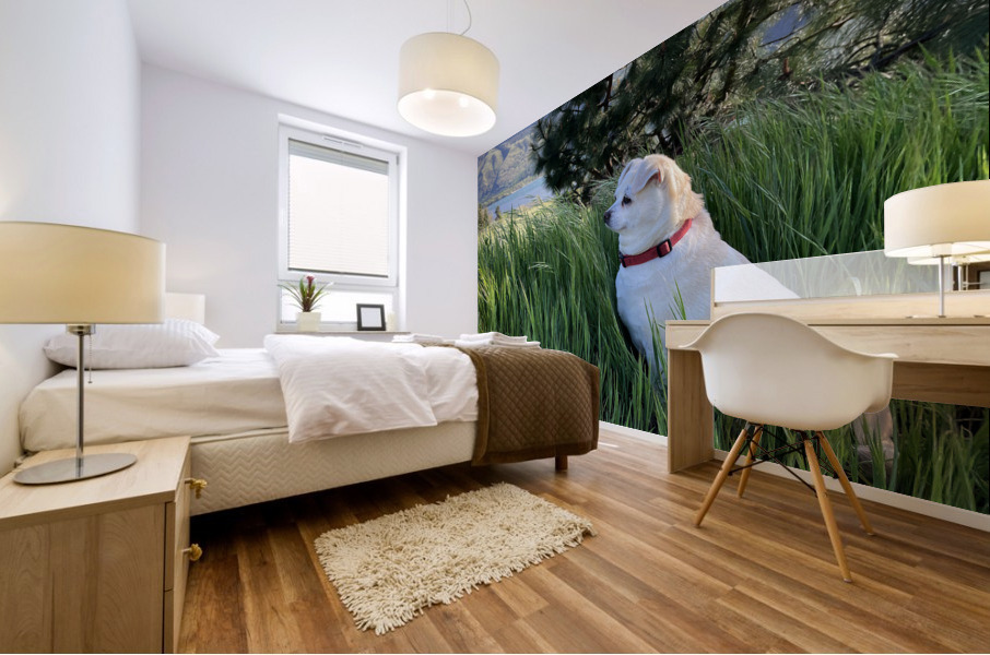Blossom in Tall Grass Mural print