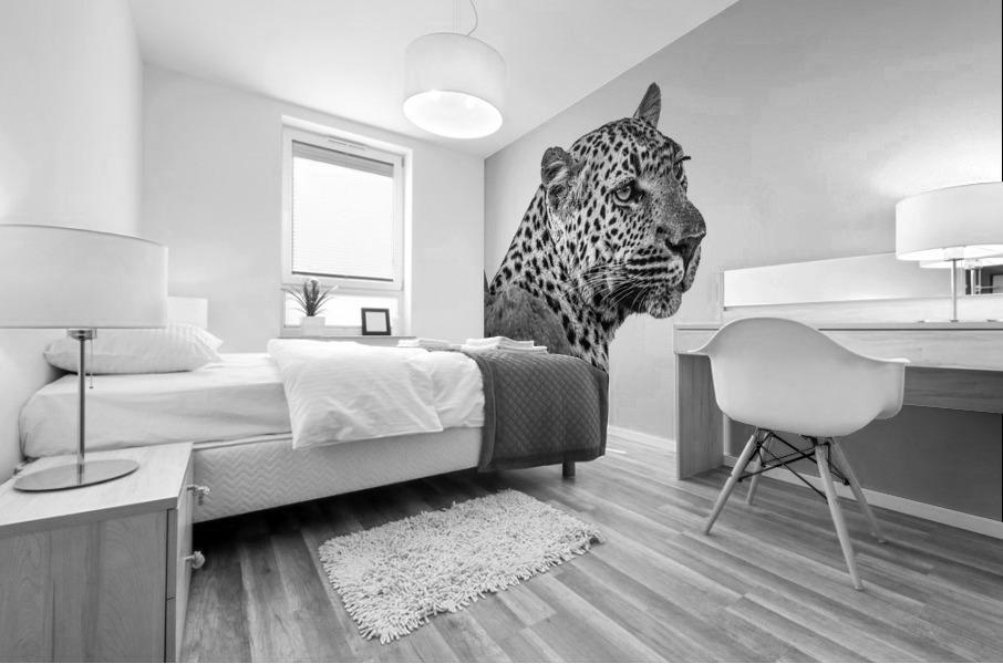 Leopard - B&W Mural print