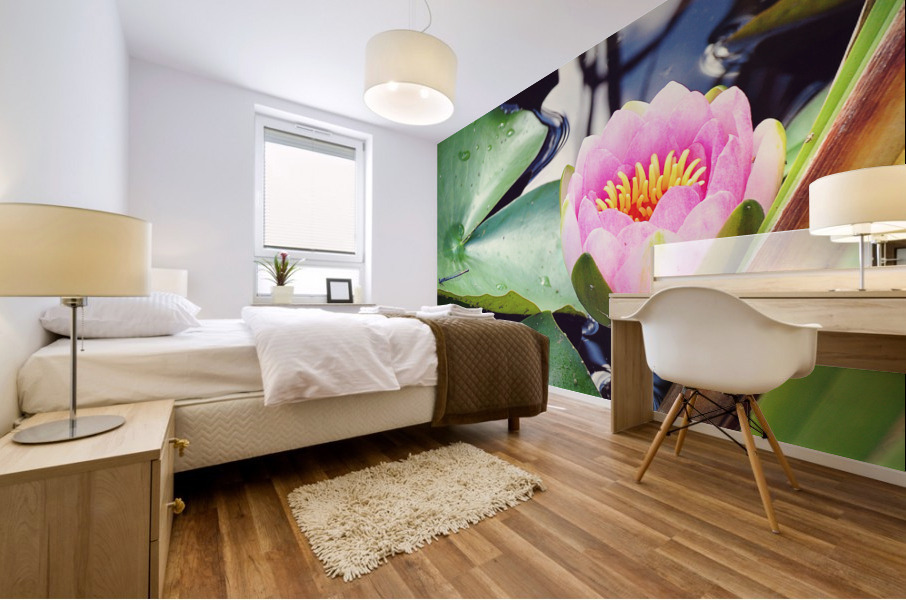 Dragonfly And Lily Mural print