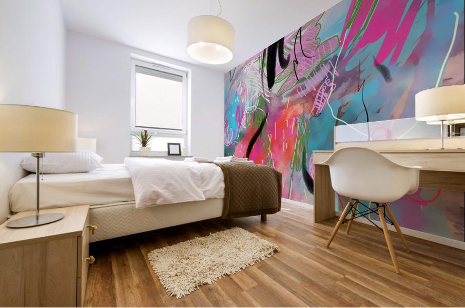 Summer Resort Abstract  Mural print