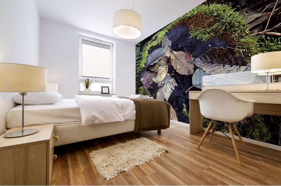 Mossy Stump Mural print
