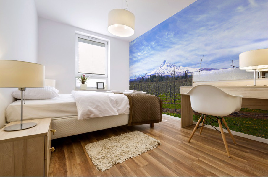Spring at the Orchards  - Mount Hood - Oregon Mural print
