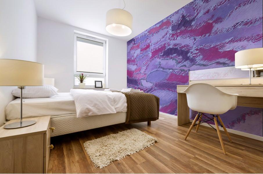 shades of purple Mural print