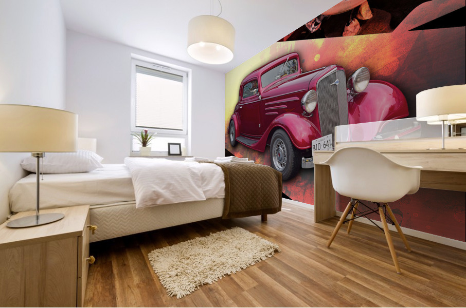 1935 Chevrolet 5-Window Coupe Mural print