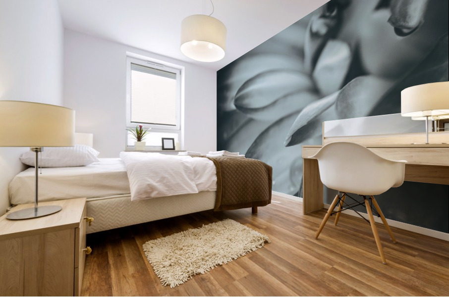 Flowerful Study In A Monochromatic Vibe Mural print