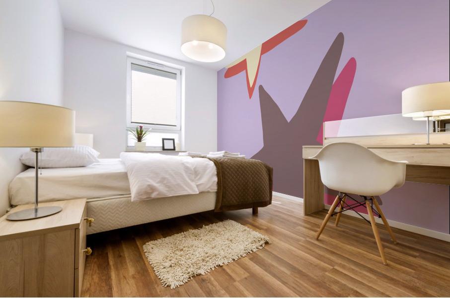 Lilac Star Mural print