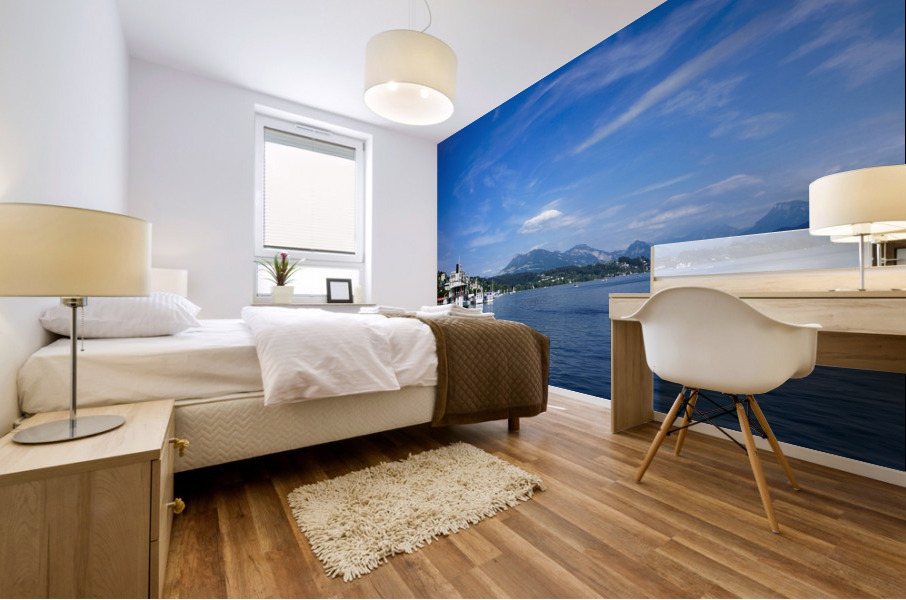 On the Shores of Lake Lucerne Mural print