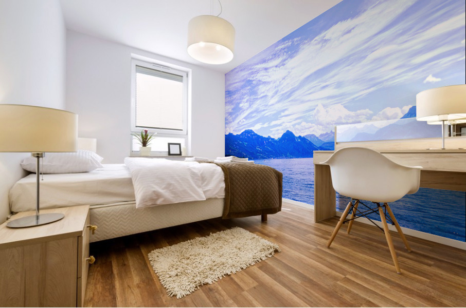 Beautiful Day The Alps and Lake Lucerne 1 of 2 Mural print
