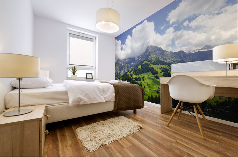 Beautiful Day in the Swiss Alps 2 of 2 Mural print