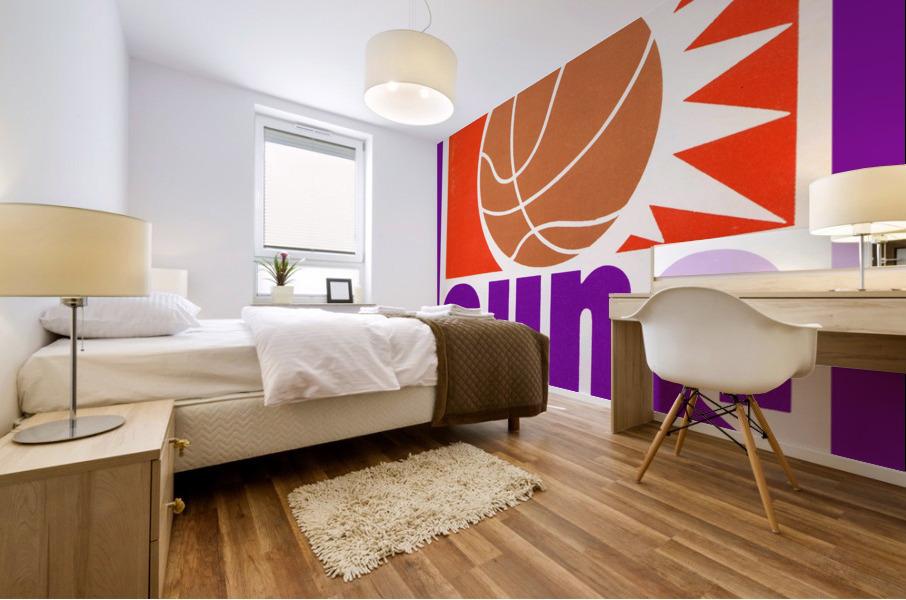 1970 Phoenix Suns Basketball Art Mural print
