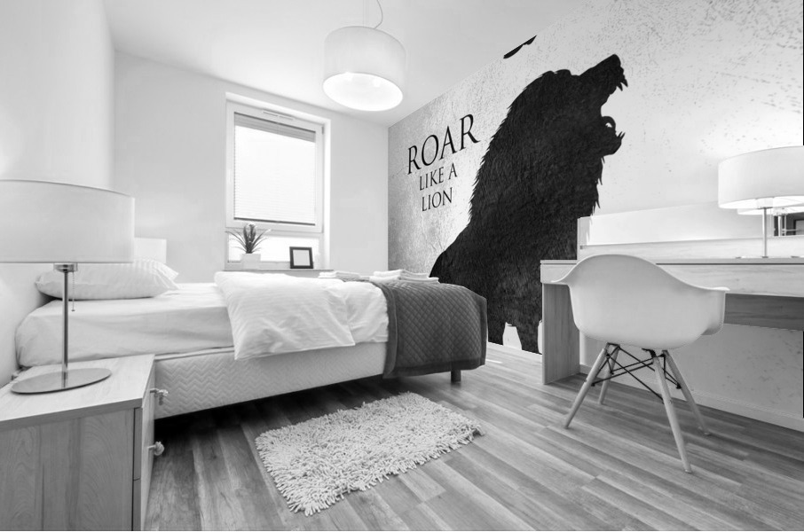 lion and eagle Motivational Wall Art Mural print