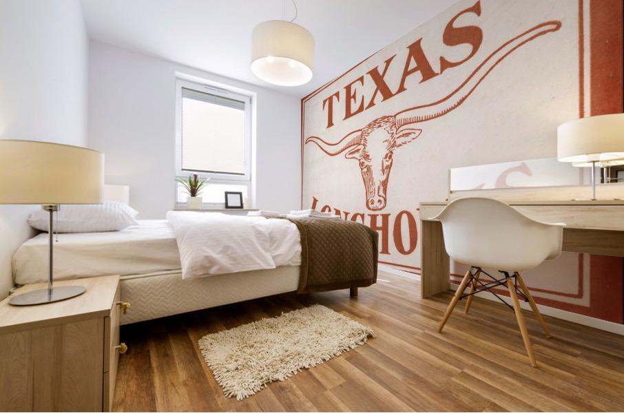 Historic Texas Longhorns Art Mural print