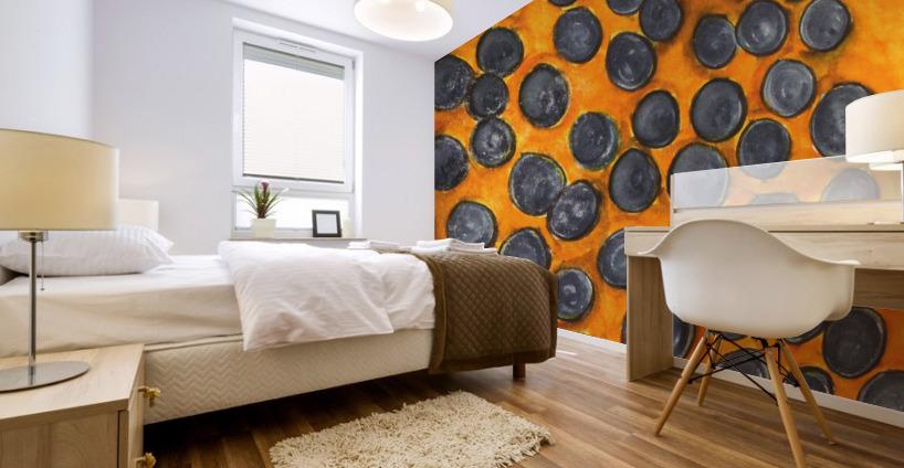 Blueberries Mural print