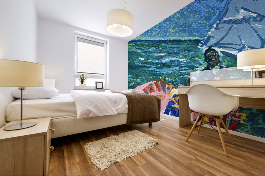 At the Wheel of The Sea Ray Mural print