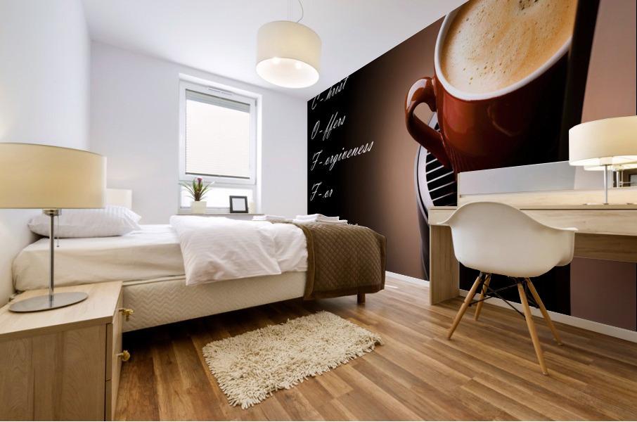 coffee Mural print