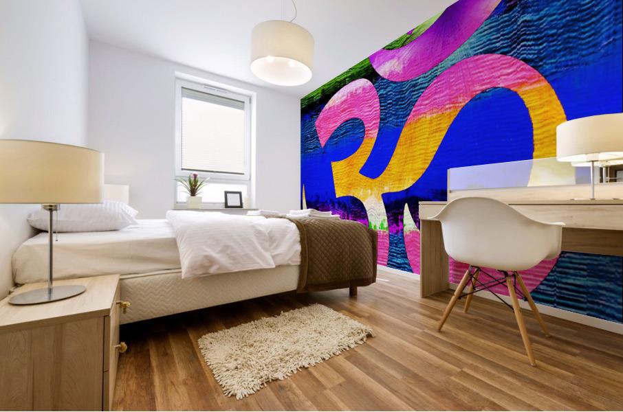 Om Waves Mural print
