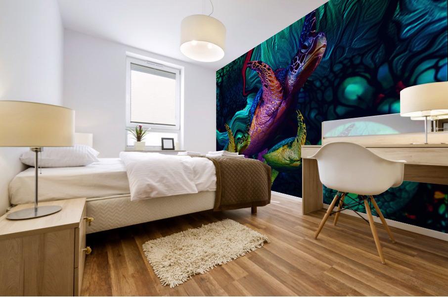 Turtles en Saison 5 Mural print