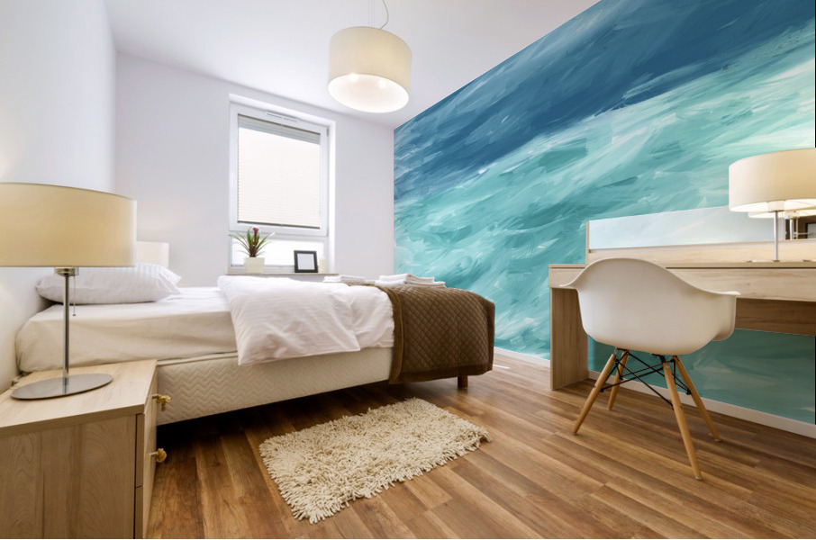 Looking for Swells Mural print