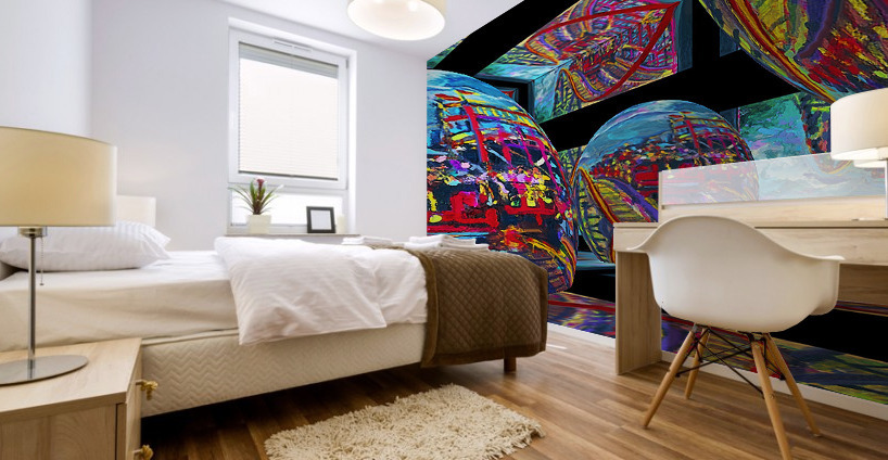 EXTREME Roller Coaster RoomXpander tm Tracking Art Mural print