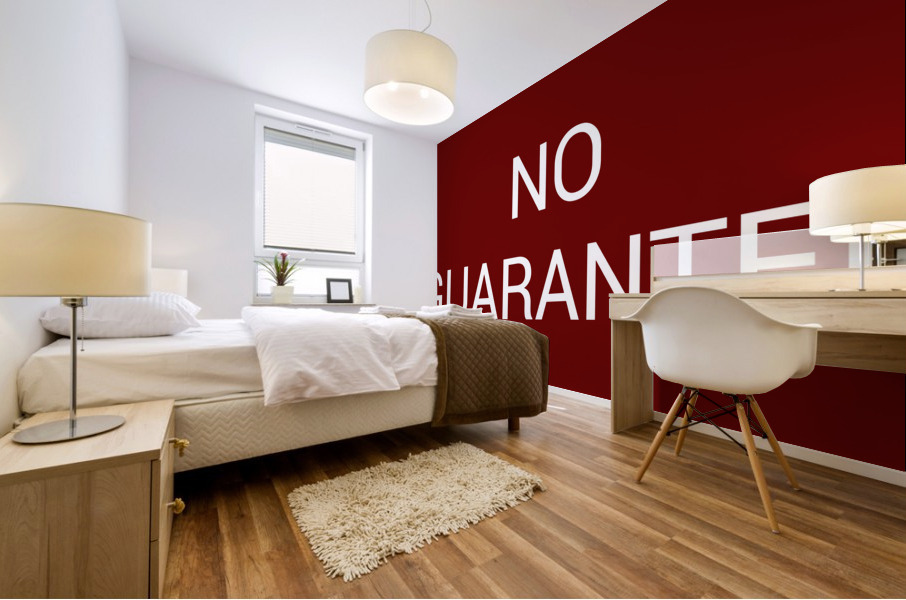 NO GUARANTEE blood red by Lenie Blue Mural print
