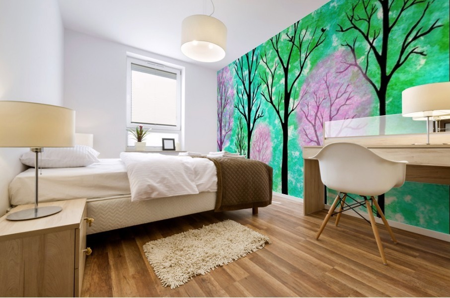 Spring Forest Mural print