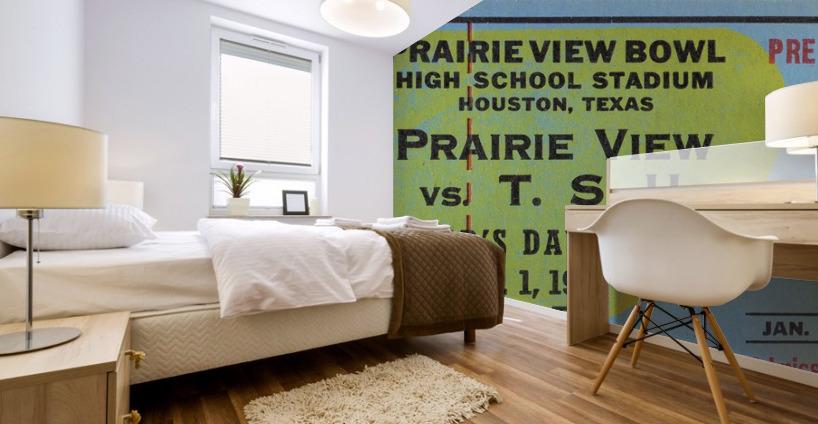 1955 Prairie View AM Panthers vs. Texas Southern Tigers Ticket Stub Art  Mural print
