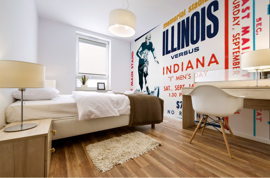 1974 Indiana Hoosiers vs. Illinois Fighting Illini Mural print